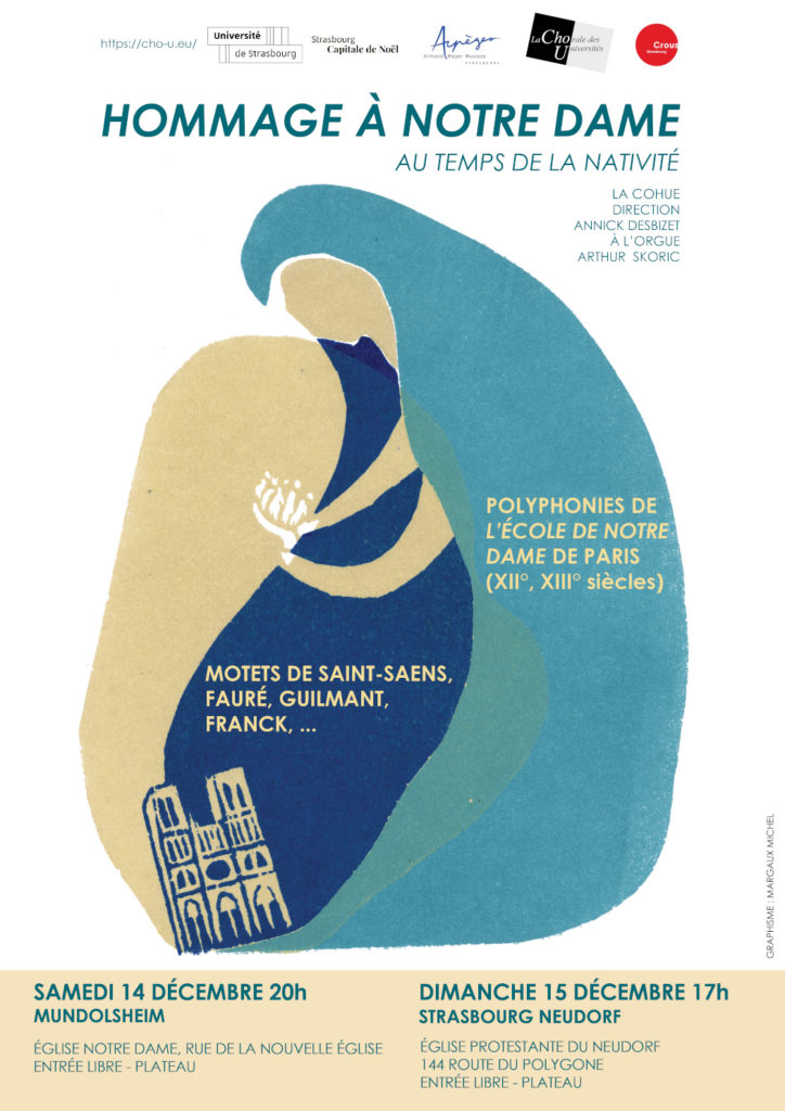 """Affiche du concert """"Hommage à Notre Dame"""""""